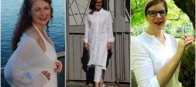 3 Frauen – 1 Look: ganz in Weiß!