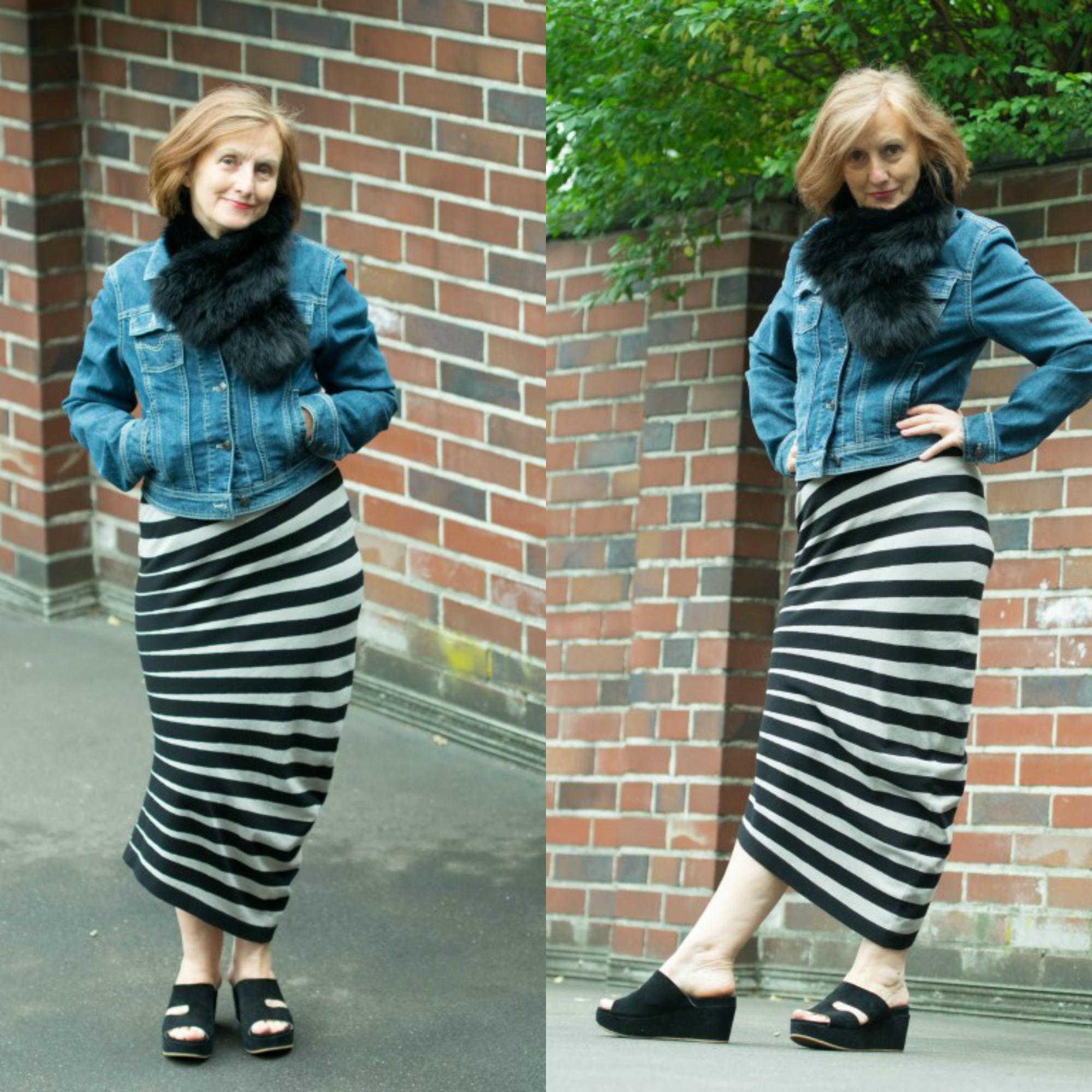 Ü60 Bloggerin Ursel vom Iknmlo Fashionblog für Frauen ab 40 über Jeansjacken