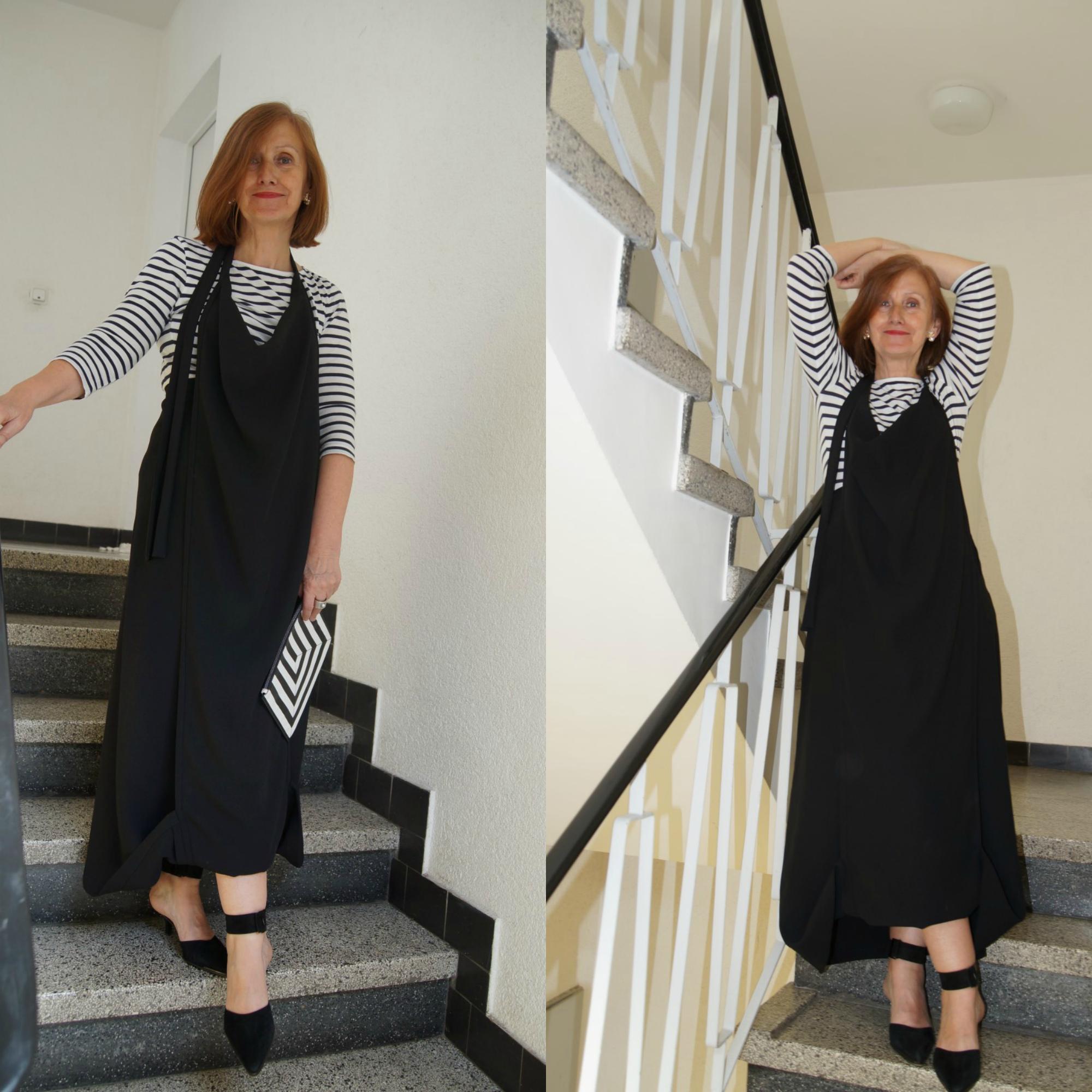 Ü60 Bloggerin Ursel vom Iknmlo Fashionblog für Frauen ab 40 über Streifen