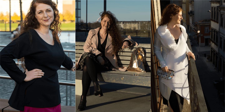 Ü40 Modebloggerin Cerstin von iknmlo mit Kleidungstücken, die sie doppelt besitzt