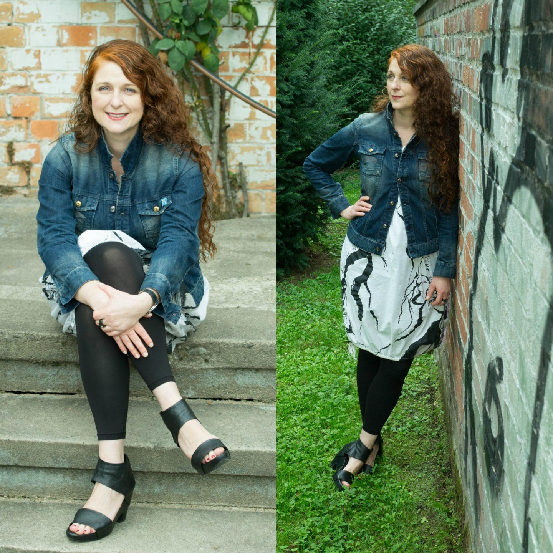Ü40 Look Jeansjacke Bloggerin Cerstin aus Köln für den Modeblog iknmlo