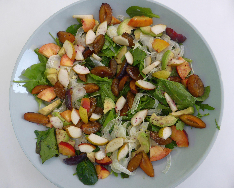 Salat mit Zwetschgen