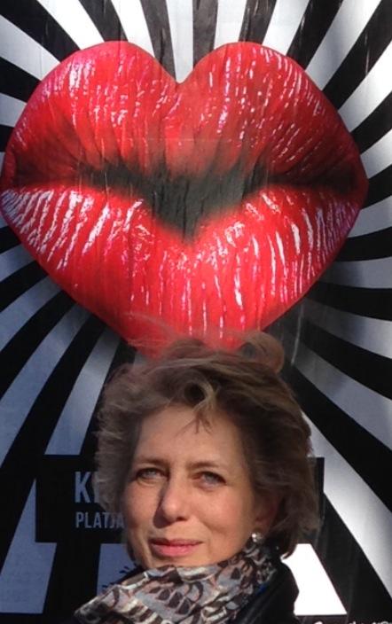 Ü50 Bloggerin Ute mit roten Lippen
