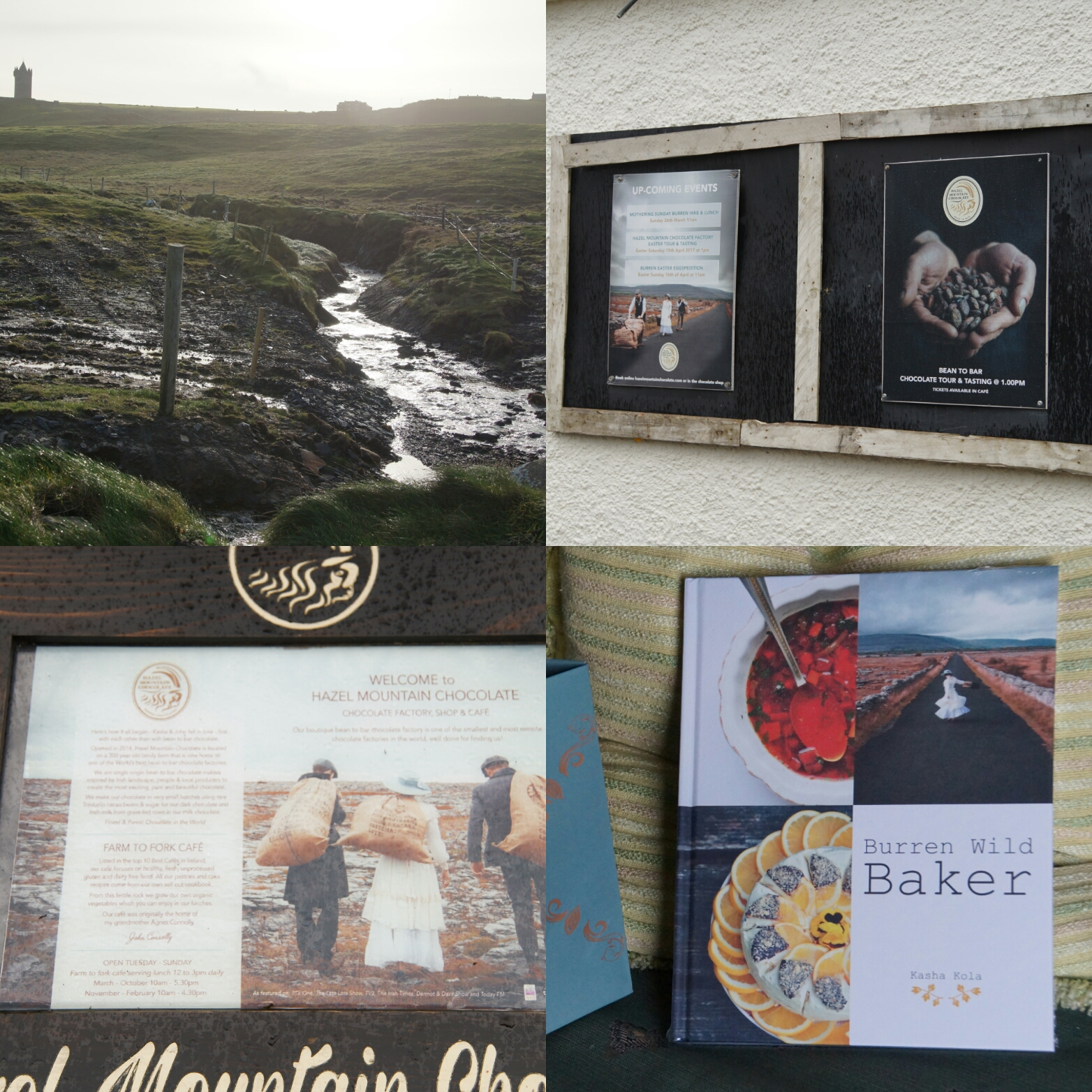 The Burren Wild Baker Collage iknmlo Hazel Mountain Chocolate Burren