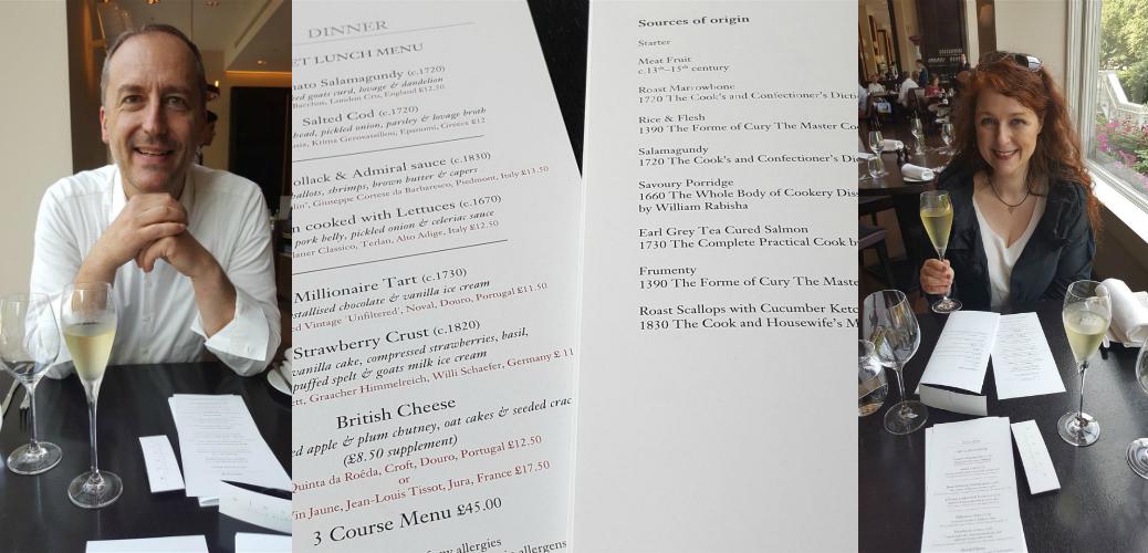 Speisekarte zum Geburtstags-Lunch im Dinner by Heston Blumenthal im Mandarin Oriental London