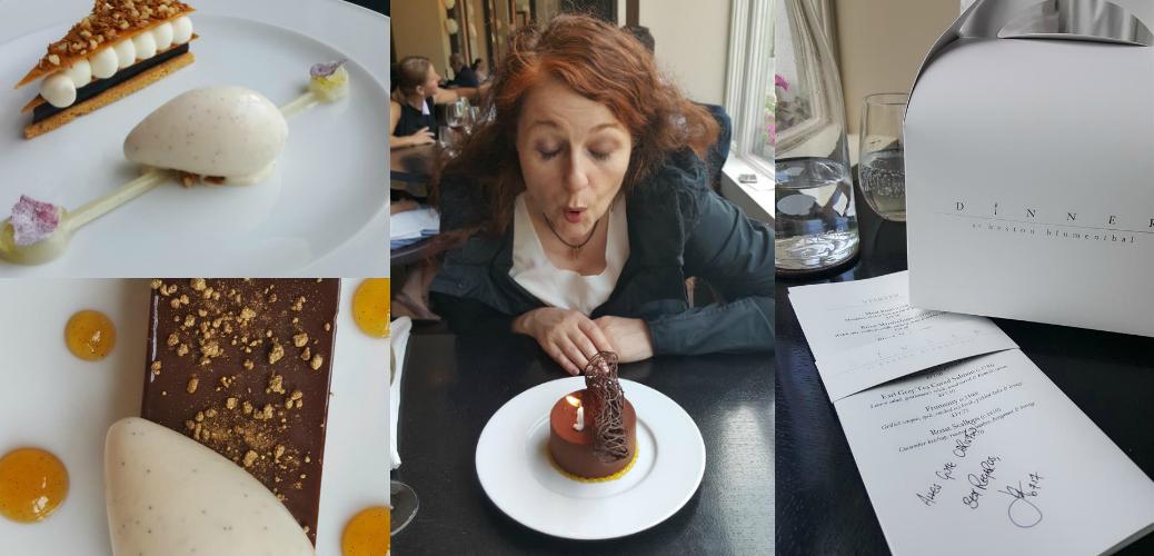 Geburtstagsküchlein und Desserts im Dinner by Heston Blumenthal im Mandarin Oriental London
