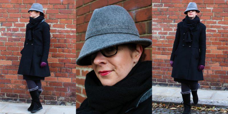 Asymmetrisch mit Hut