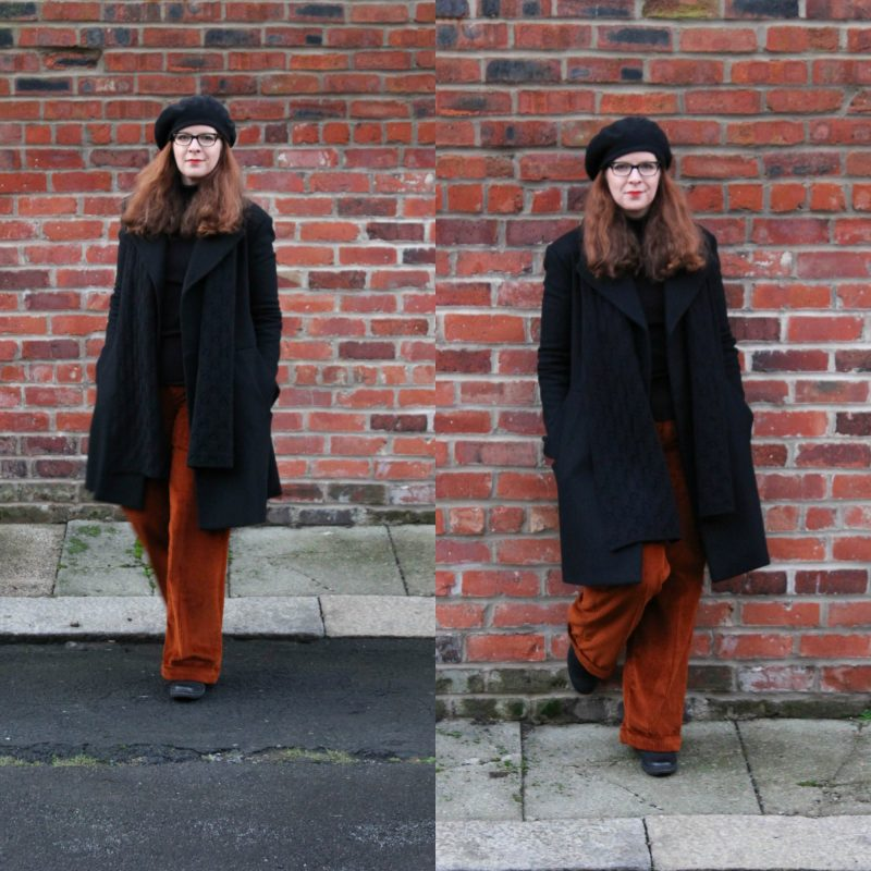 Bloggerin Tanja vom Ü40 Iknmlo Mode und Fashionblog über Cord und ihre neue Cordhose von COS