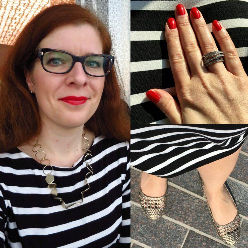 Ü40 Tanja Streifen Kleid gestreift Modeblog iknmlo