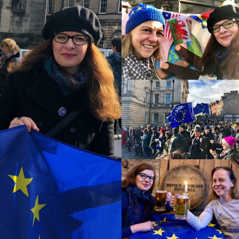 Tanja über Kleidung auf der Brexit Demo Brexit Ü40 Iknmlo Mode und Lifestyleblog