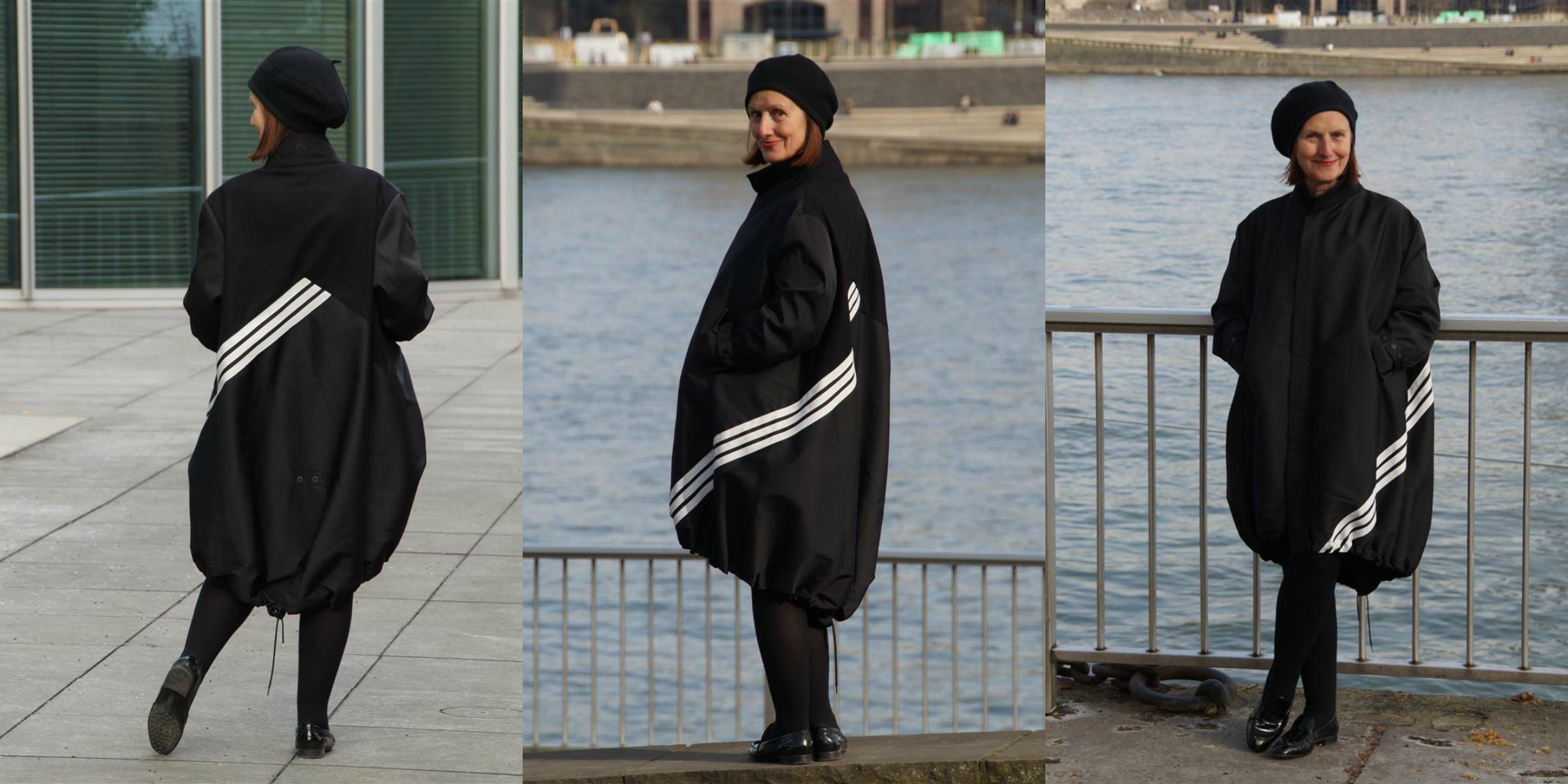 Ursel vom IKNMLO Fashionblog für Frauen ab 40 über den Y3 Mantel