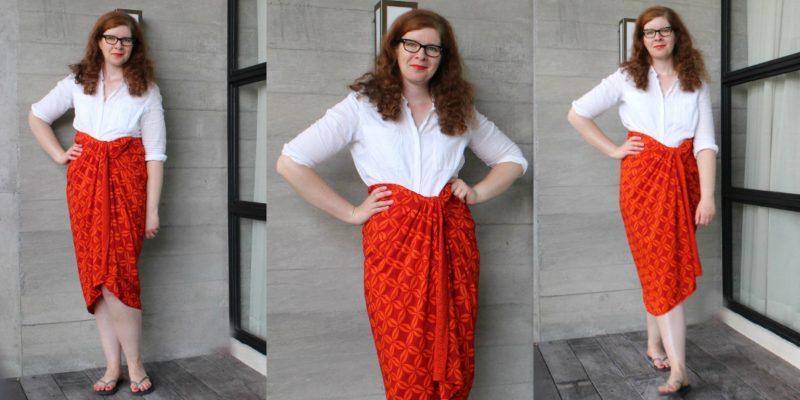 Sarong ist nicht nur für den Strand Orange Urlaub Sommer Bali IKNMLO Modeblog