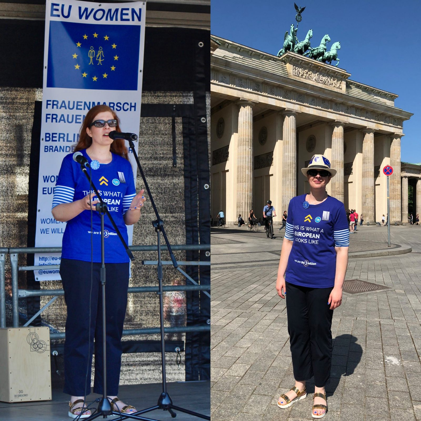 Women for Europe Berlin Brandenburger Tor IKNMLO
