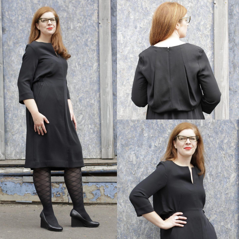 Schwarzes Kleid COS United Nude Schwarz Arbeit und Abend IKNMLO
