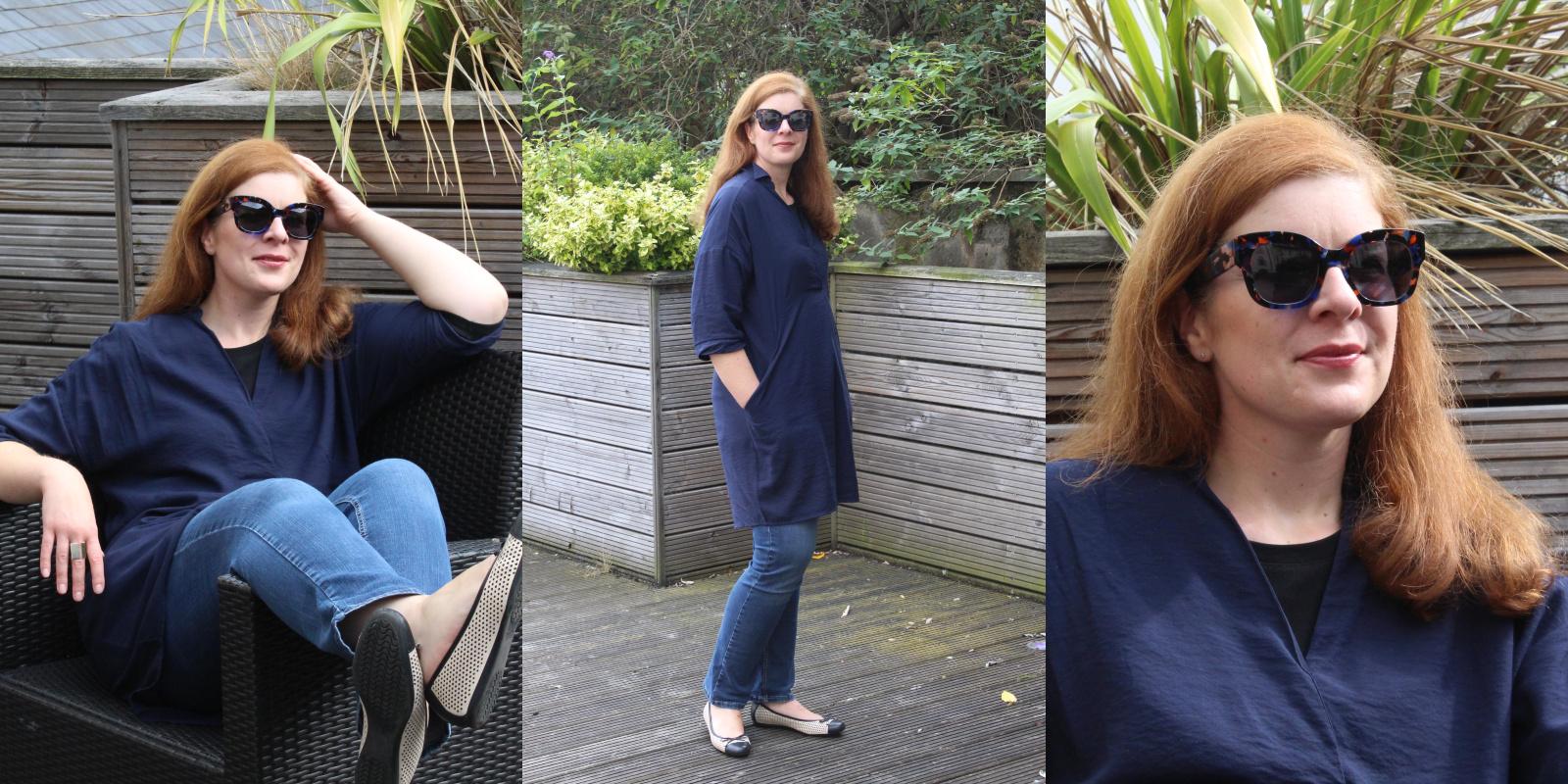 Bluse Jeans Sonnenbrille Sommerende Fashionblog IKNMLO