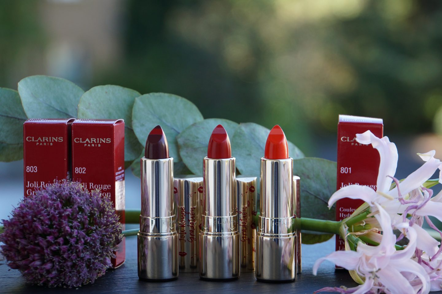 Clarins Joli Rouge gradation Herbst 2018 801 coral gradation 802 red gradation 803 plum gradation