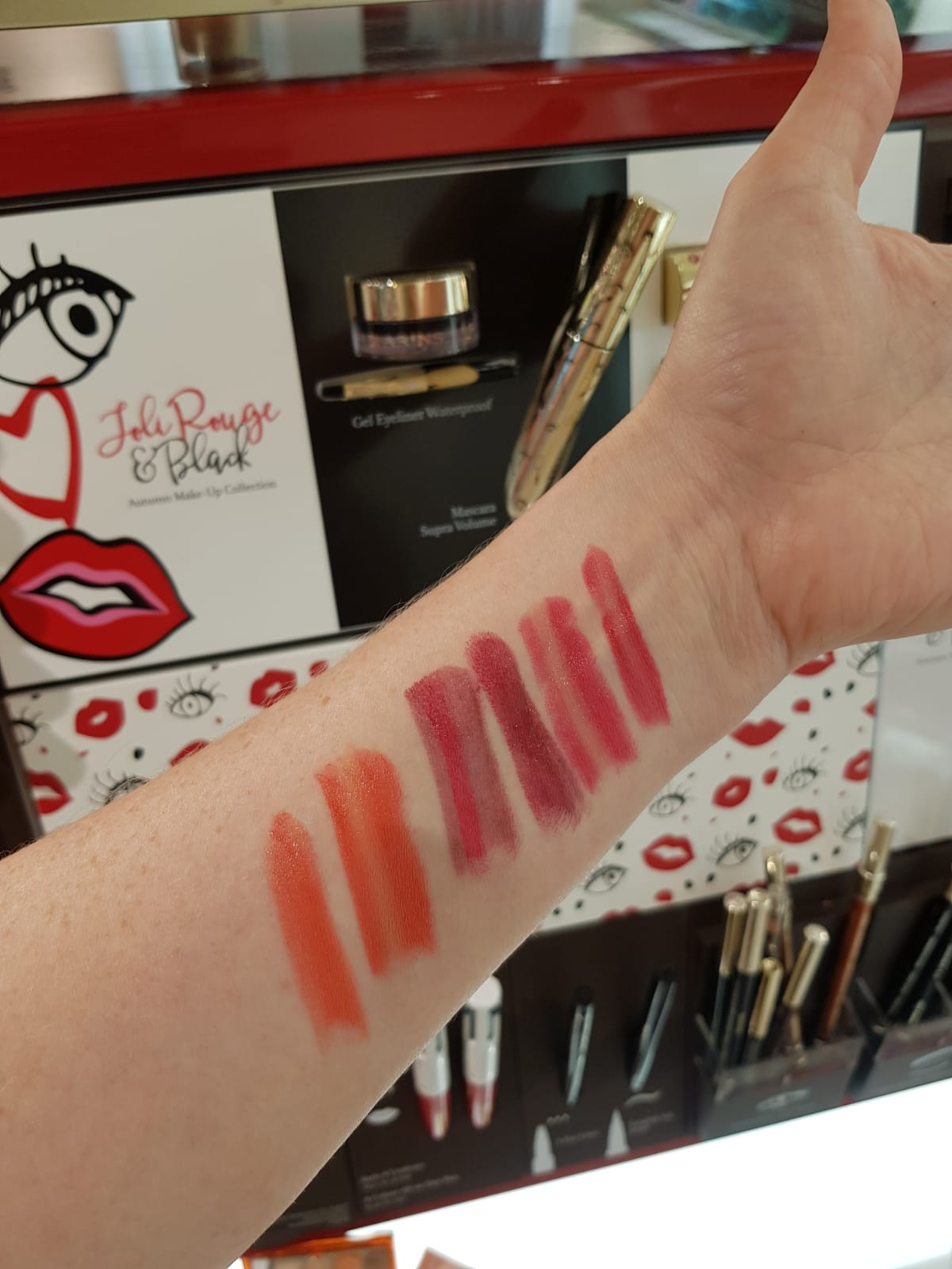 Clarins Joli Rouge gradation Herbst 2018 swatches ü40