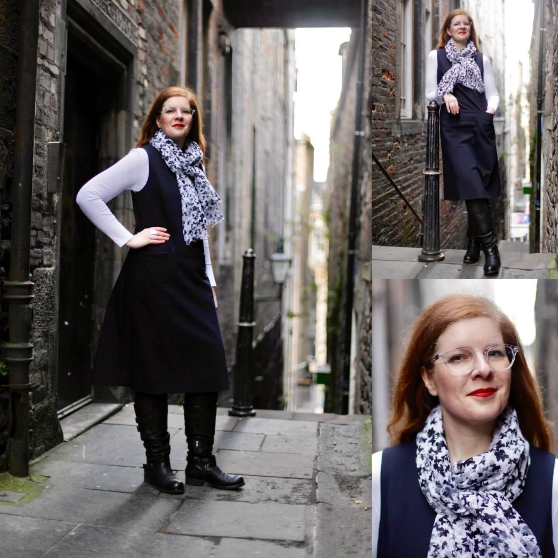Edinburgh Close Kleid Stiefel Mode IKNMLO