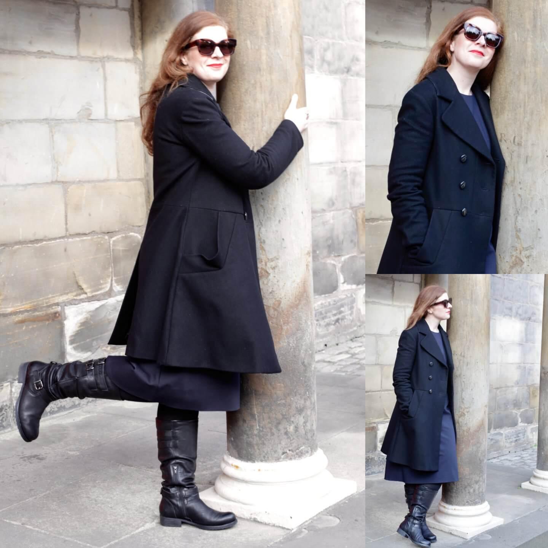 Vivienne Westwood Mantel COS Kleid Schwarz Blau Mode Fashion IKNMLO