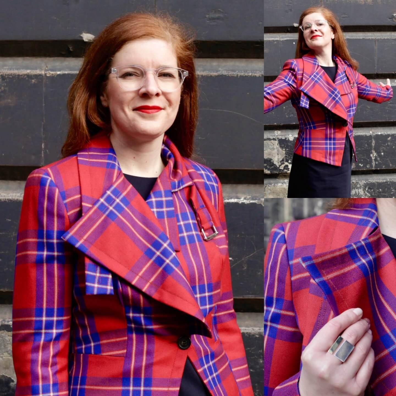 Vivienne Westwood Tartan Schottland Edinburgh Blazer Rot Lieblingsjacke IKNMLO