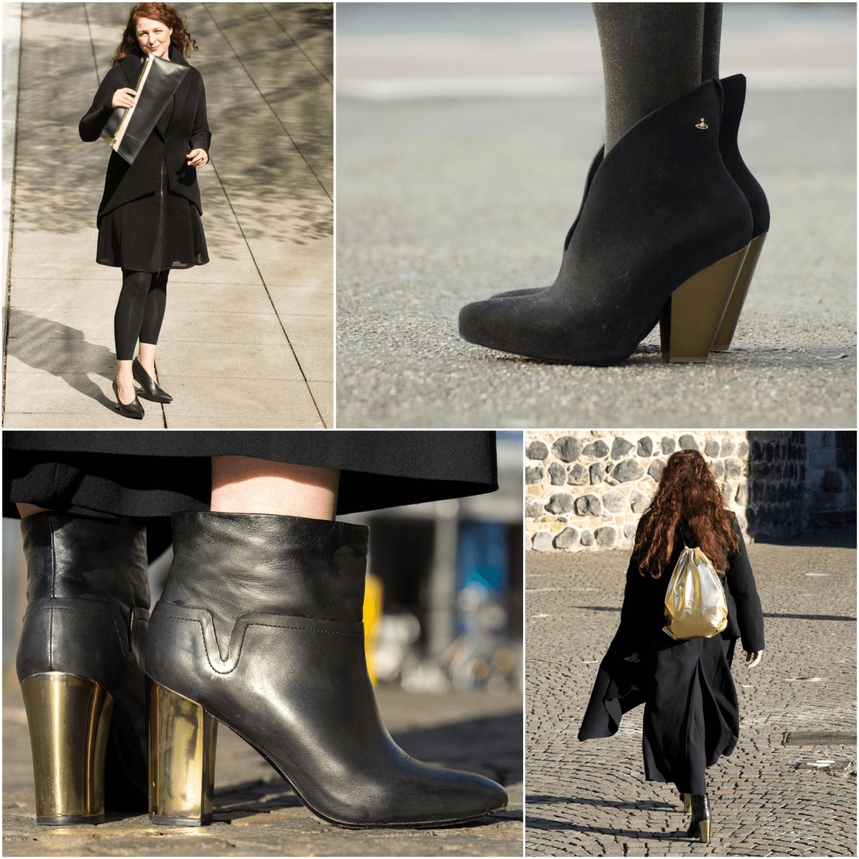 Stilinspiration goldene Accessoires Style Inspiration Gold and Black Ü40 Blog iknmlo Loqi Rucksack gold