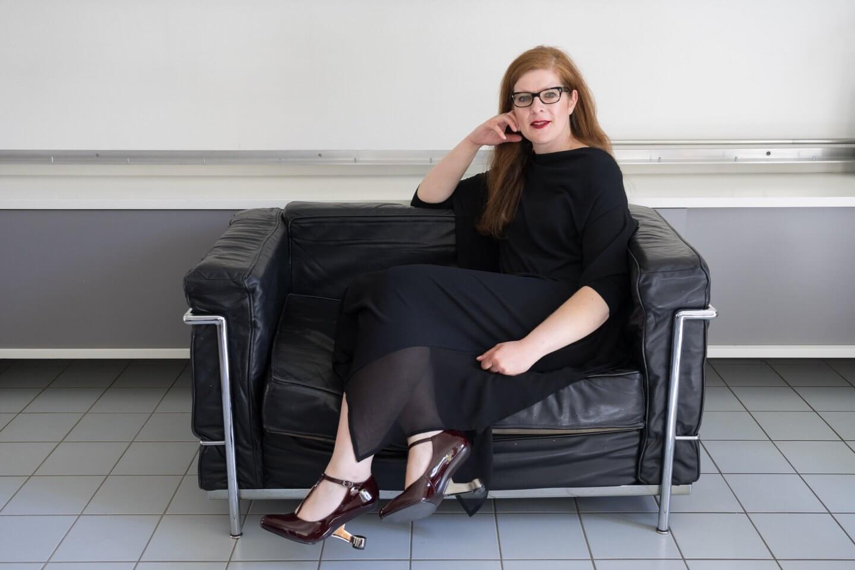 Ü40 Modebloggerin Tanja von iknmlo in United Nude Eamz über High Heels mit Ü40