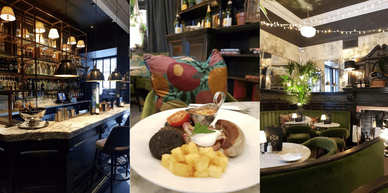 Glasgow Hutchesons City Grill Schottisches Frühstück mit Haggis