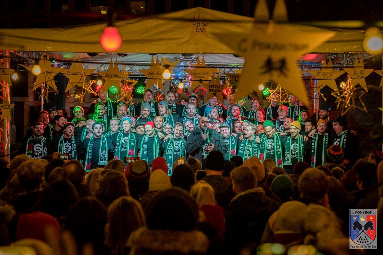 Grüngürtelrosen Pressefoto der KG Ponyhof Kleinster Weihnachtsmarkt Köln