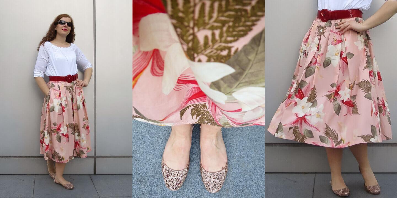 Blumenprints Sommerrock rosa Stylerebelles