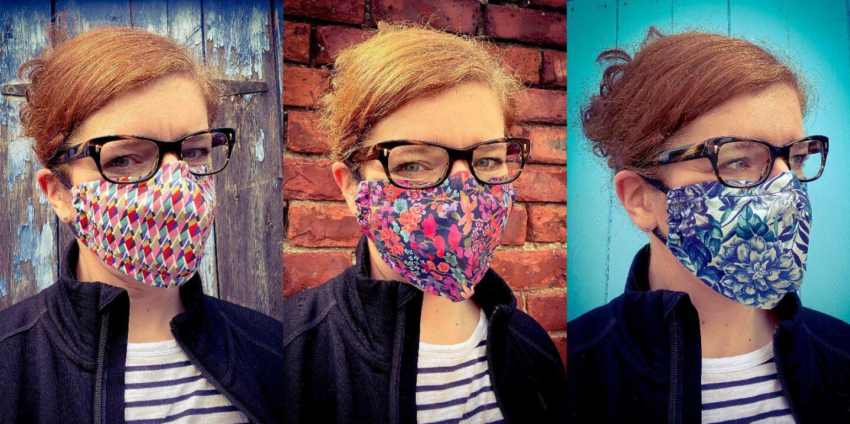 Maske COVID naehen Liberty London Stylerebelles