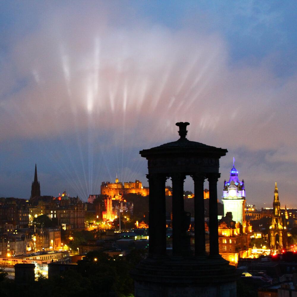 Edinburgh Festival My Light Shines On Corona Primal Scream Lichtershow