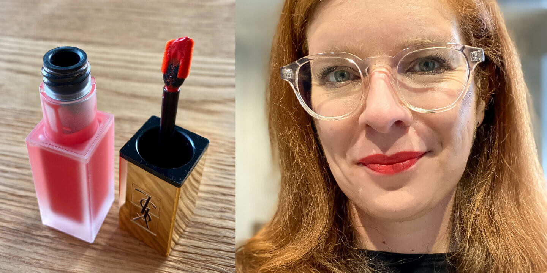 Lippenstift Maske Yves Saint Laurent Tatouage Couture Matte Stain Liquid Lipstick True Orange