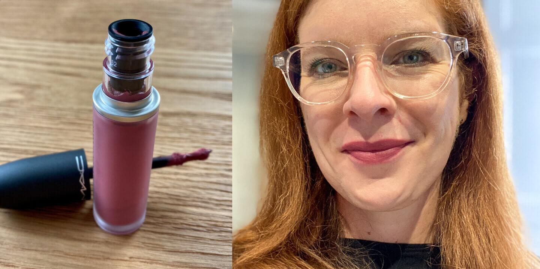 Lippenstift Maske MAC Powder Kiss Liquid Lip Colour, More The Mehr-ier