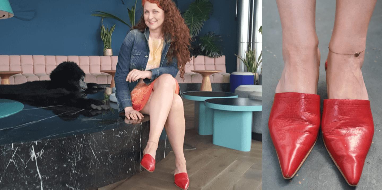 So trägt man Mules - nicht nur mit Ü50 Outfit Look Mules von Tommy Hilfiger