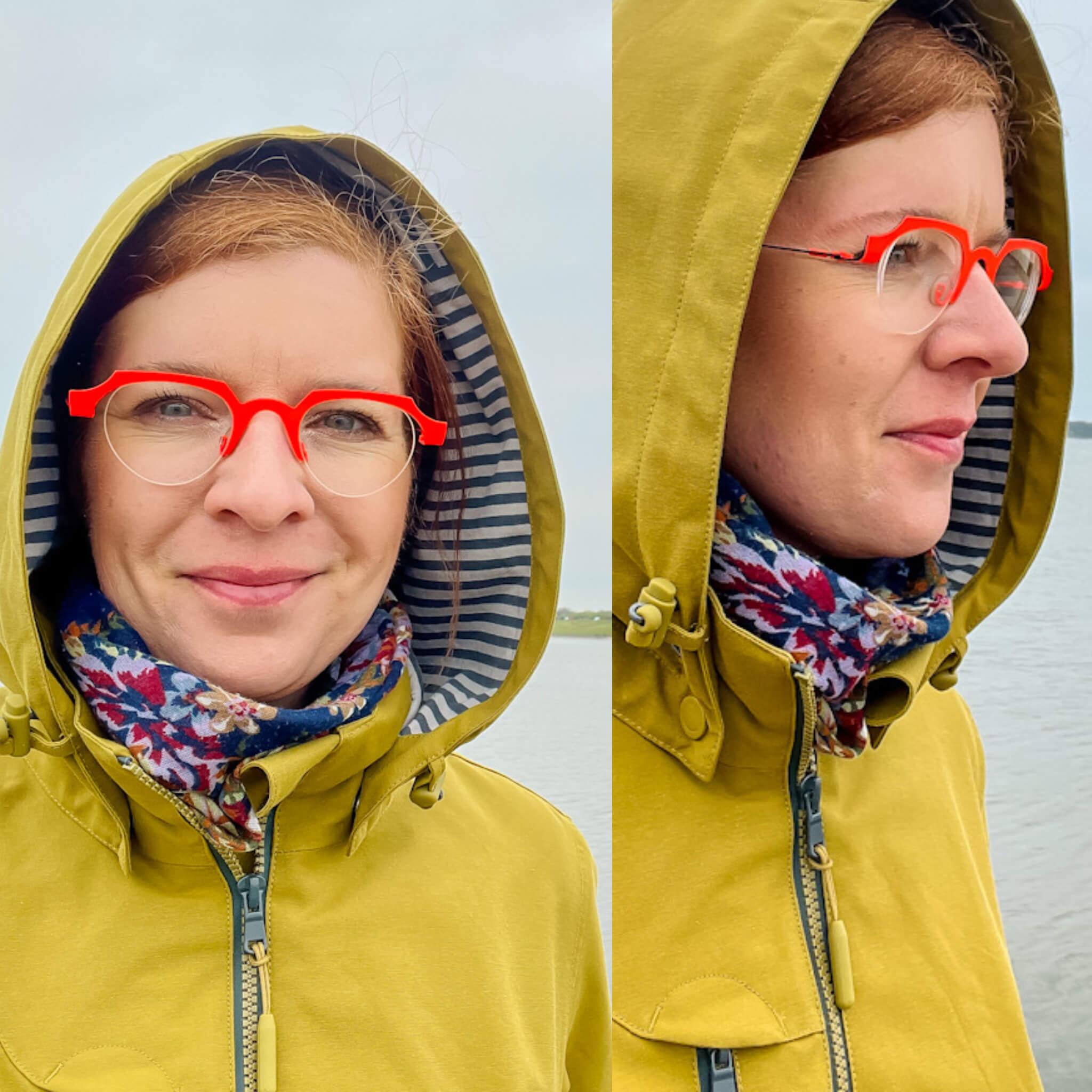 Gelb Regenmantel Regen wetterfest in style Ü40 Fashion