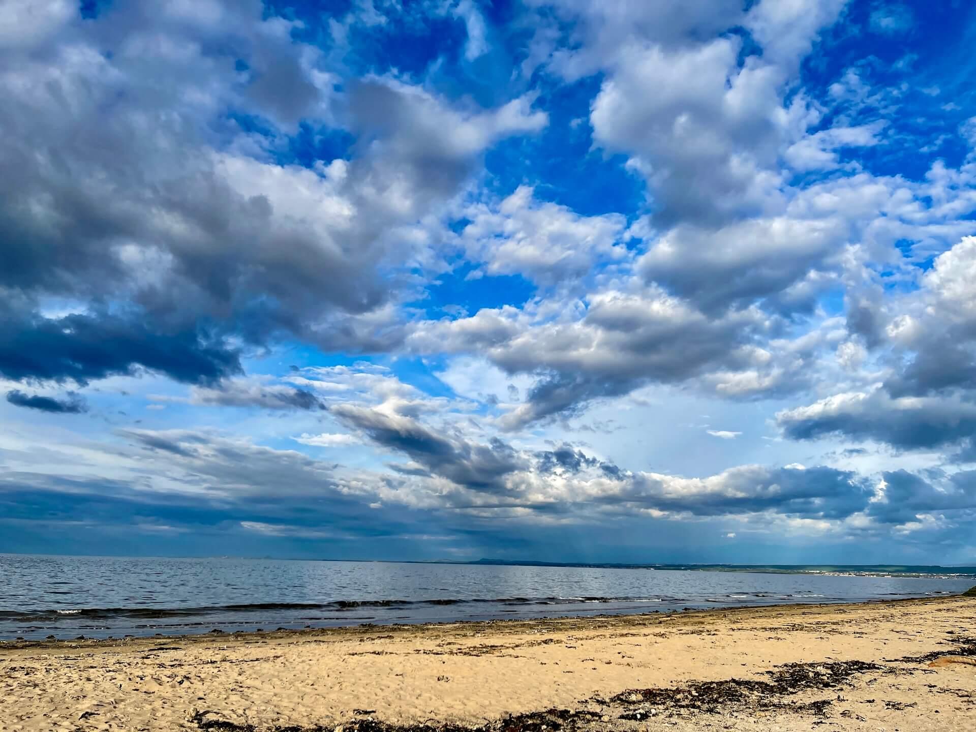 Strandleben Meer Strand Wind Sonne Schottland Reisen