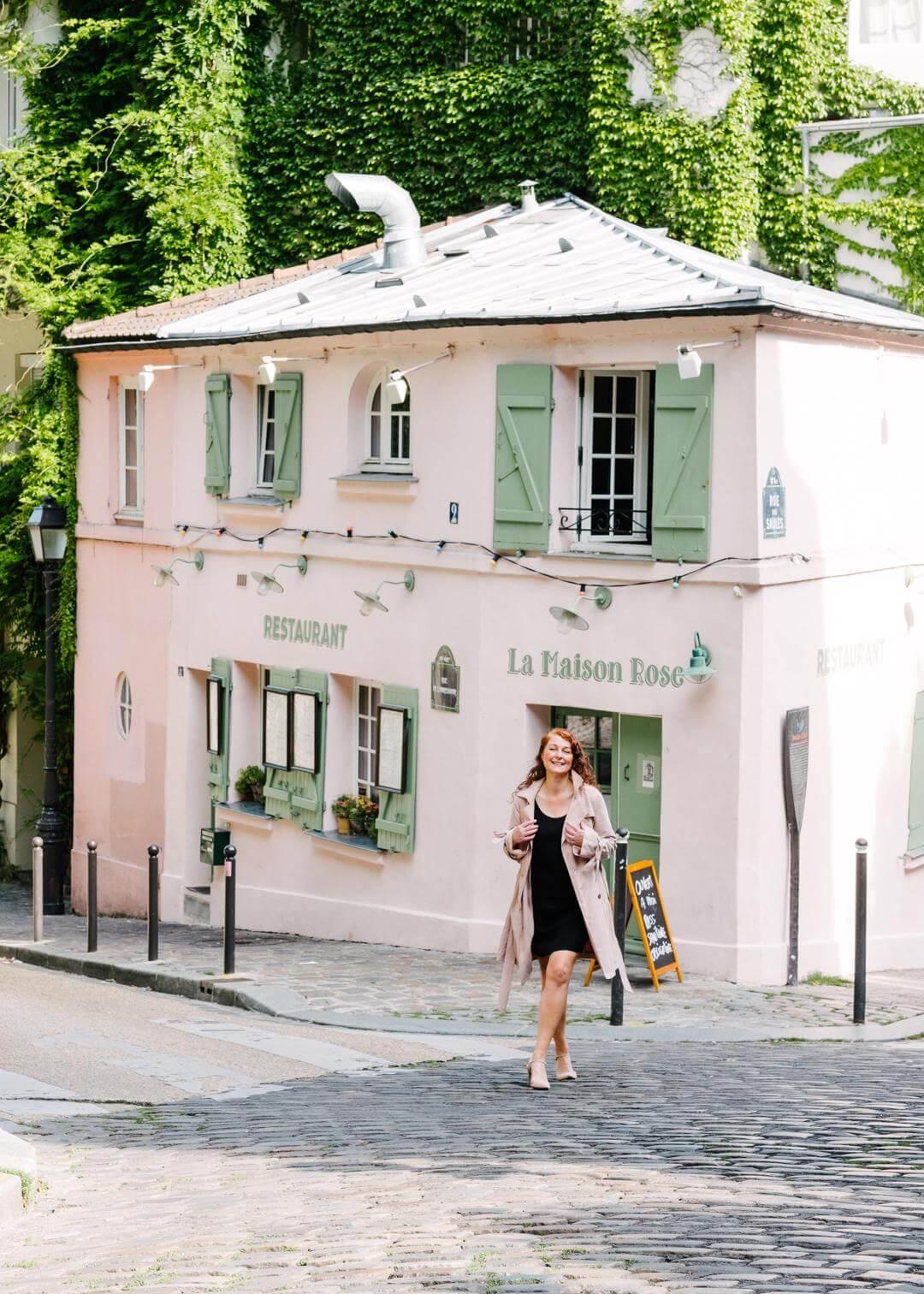 Schönste Fotolocations im Montmartre Paris La Maison Rose styleREBELLES